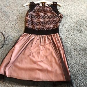 Black and pink homecoming dress